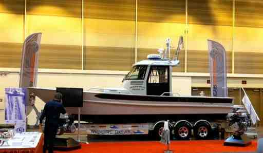 Power Boat in Showroom